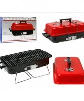 Compacte barbecue met deksel 43 x 28 cm trend