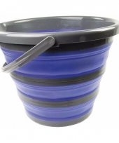 Compacte schoonmaak emmer blauw trend