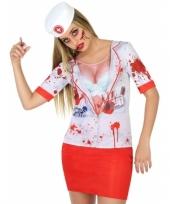 Compleet horror zuster kostuum voor dames trend