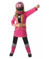 Compleet power ranger kostuum voor kinderen roze trend