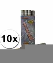 Confetti kanonnen 60 cm zilver 10x trend