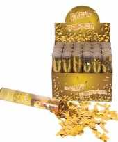 Confetti shooters goud 20 cm trend