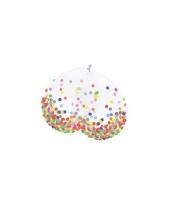 Confetti versiering ballonnen 6 stuks trend
