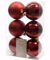 Cosy christmas kerstboom decoratie kerstballen donkerrood 6 x trend
