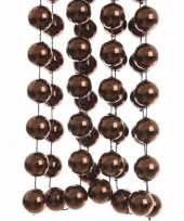 Cosy christmas kerstversiering sterren grove kralen ketting bruin 270 cm trend