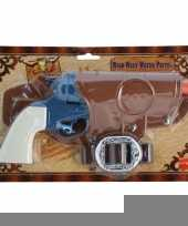 Cowboy revolver blauw compleet trend