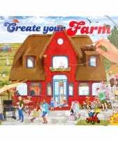 Creeer je eigen boerderij wereld stickerboek trend