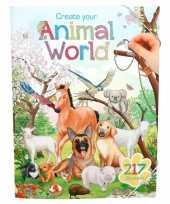 Creeer je eigen dieren wereld stickerboek voor jongens trend