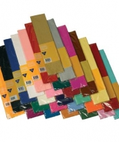 Crepe papier in alle kleuren trend