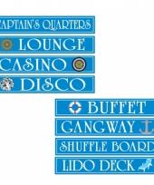 Cruise boot decoratie bord 4 stuks trend
