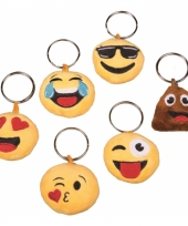 Cupido smiley sleutelhanger crazy face trend