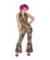 Dames carnavalskleding disco catsuit trend