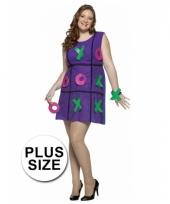 Dames carnavalskleding jurk paars plus size trend
