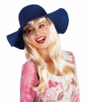 Dames hippie hoed blauw trend
