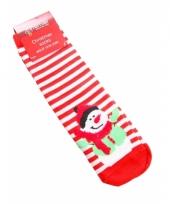 Dames kerstmis sokken sneeuwpop trend