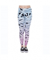 Dames party legging mummy print trend