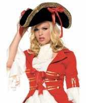 Dames piraten hoed met goud trend