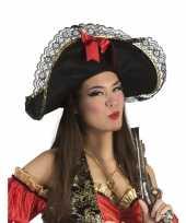 Dames piratenhoed met strik trend