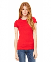 Dames skinny shirts hanna rood trend
