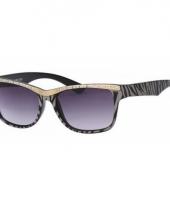Dames zonnebril tijgerprint zwart trend