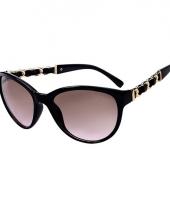 Dames zonnebrillen met gouden details trend