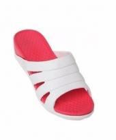 Dames zwembad sauna slippers rood trend