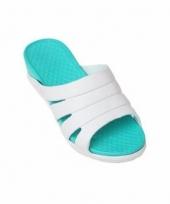 Dames zwembad sauna slippers zeeblauw trend