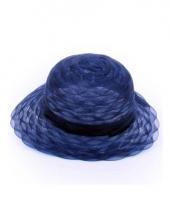 Dameshoed navy blauw organza trend