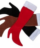 Dameslaars kerstsokken zwart trend