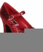 Damesschoenen glitter rood trend