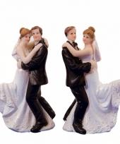 Dansend bruidspaar trouwpoppetjes trend