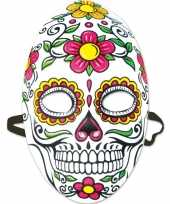 Day of the dead sugarskull gezichtsmasker voor dames trend