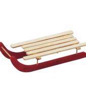 Deco slee van hout 14 cm trend