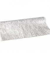 Deco stof zilveren glans 40 x 200 cm trend