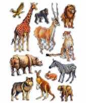 Decoratie afrikaanse diertjes stickers trend