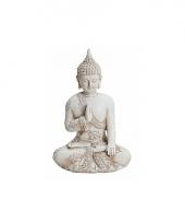 Decoratie beeld boeddha 17 cm trend