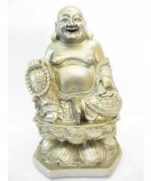 Decoratie boeddha beeld licht goud 28 cm trend