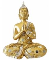 Decoratie boeddha thais goud 22 cm trend