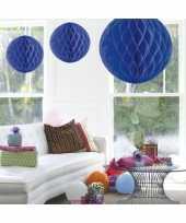 Decoratie bol blauw 50 cm trend
