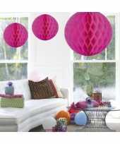 Decoratie bol fuchsia roze 50 cm trend