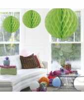 Decoratie bol lime groen 50 cm trend
