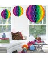 Decoratie bol regenboog 50 cm trend