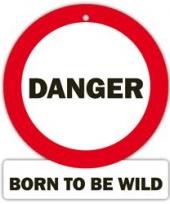 Decoratie bord met zuignappen danger born trend