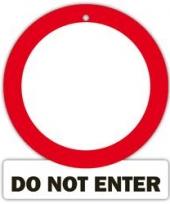 Decoratie bord met zuignappen do not enter trend