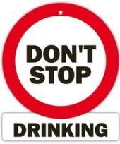 Decoratie bord met zuignappen do not stop drinking trend