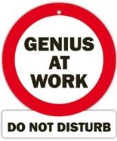 Decoratie bord met zuignappen genius at work trend