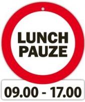 Decoratie bord met zuignappen lunch pauze trend