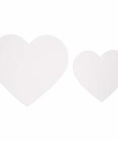 Decoratie bruiloft hartjes van karton 50x trend