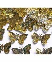 Decoratie confetti gouden vlinders 60 gram trend