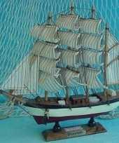 Decoratie houten model schip passat 24 cm trend